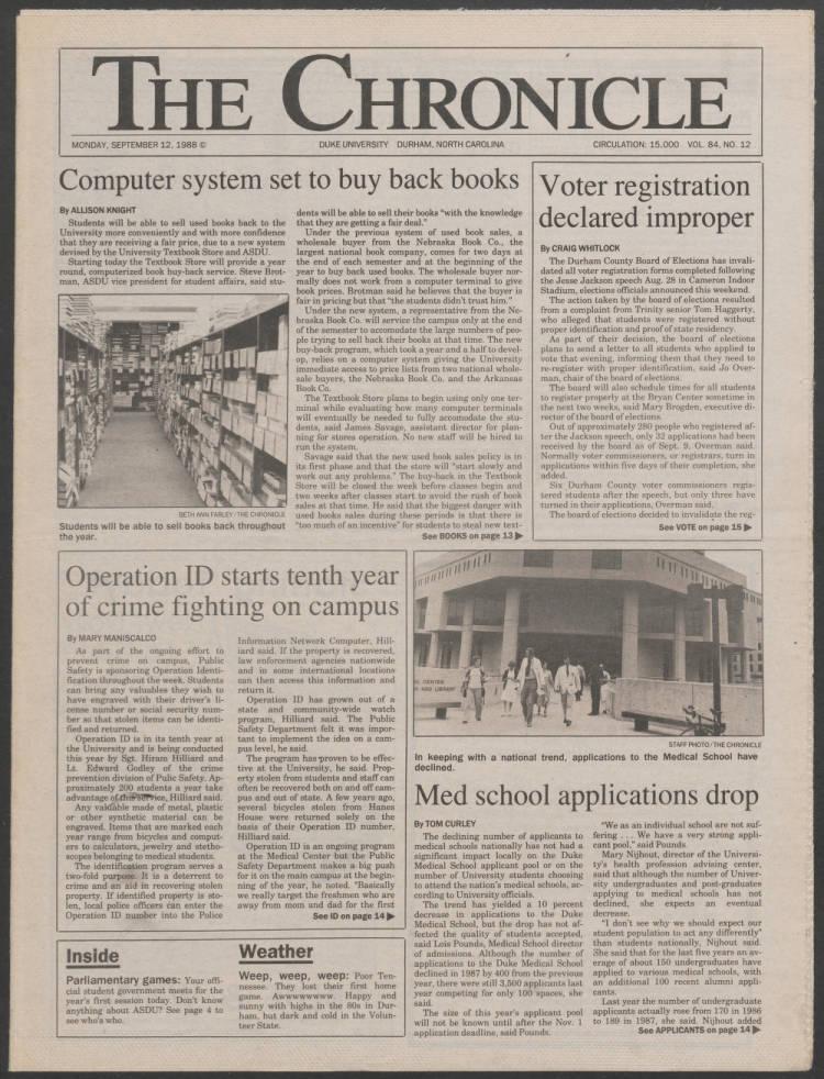dchnp300120010 - The Duke University Chronicle - Duke Digital